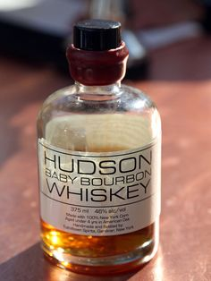 Hudson Baby Bourbon Whiskey      Hudson, Baby Bourbon at $45 Bourbon doesn't have to be made in Kentucky