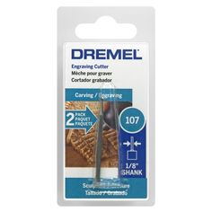 "Dremel 107-2 3/32"" High Speed Engraving Cutter 2-count"