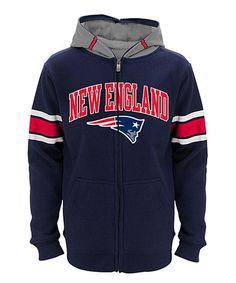 Look at this #zulilyfind! New England Patriots Zip-Up Hoodie - Boys #zulilyfinds