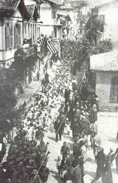 Yunan Ordusunun Panormos (Bandırma) girişi 1919 - Türk Kurtuluş Savaşı - Vikipedi