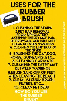 Uses for the Norwex Rubber Brush Norwex Biz, Norwex Cleaning, Green Cleaning, Spring Cleaning, Cleaning Hacks, Norwex Envirocloth, Norwex Party, Norwex Consultant, Chemical Free Cleaning