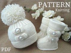 Knitting PATTERN Baby Shoes Baby Booties Baby Hat door Solnishko43