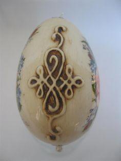 Galeria decoupage: jajko róża w bukiecie