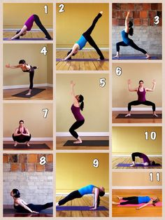 Yoga Sequence for Toning Back Side.  repined by banyantreeyoganh.com