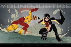 Young Justice Kid a Flash and Robin by ~OlgaUlanova on deviantART