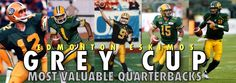 Art I made. Edmonton Eskimos Grey Cup MVP Quarterbacks.
