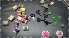 Botões para patchwork em biscuit