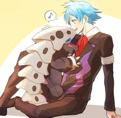 Find images and videos about pokemon, daigo and steven stone on We Heart It - the app to get lost in what you love. Pokemon Ships, Pokemon Funny, Pokemon Fan Art, All Pokemon, Pokemon Stuff, Pokemon Rosa, Pokemon Game Characters, Anime Characters, Steven Stone