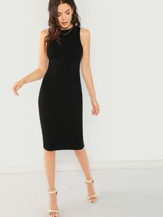 bb5cd3c123 To find out about the Solid Rib Pencil Dress at SHEIN, part of our latest  Dresses ready to shop online today!