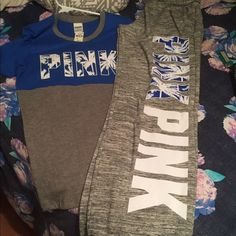 Vs pink Set New never worn top Small pants Xs PINK Victoria's Secret Other