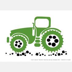 PaaPii Design - Juliste A4 Traktori