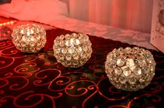 Round Crystal Candle Holders - Lapa On Vaal Candle Holders, Wedding Decorations, Chandelier, Ceiling Lights, Candles, Crystals, Inspiration, Home Decor, Biblical Inspiration