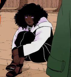 Black Love Art, Black Girl Art, Art Girl, Black Cartoon Characters, Black Girl Cartoon, Black Anime Guy, Foto Cartoon, Cartoon Art, Boruto