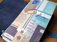 Passport Cover Travelers Notebook Insert Junk Journal  Mixed Paper Midori Notebook Insert Fauxdori insert Traveler NB Midori Accessory by BespokeBindery