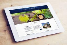 Site internet - Vignoble Château de Chamilly - ZONALPHA   Agence de communication Web Design Moderne, Site Internet, Menu, Polaroid Film, Advertising Agency, Vineyard, Menu Board Design