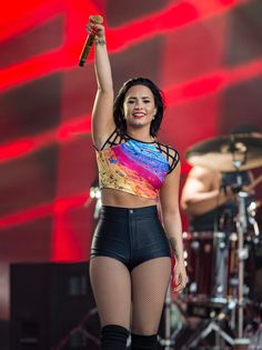 "Demi, who took a rough spill during a performance of ""Cool For the Summer"" in LA back in July, admitted to falling so often her fans say ""it's not a tour unless Demi falls"" and said her outlook on it now is ""whatever, what's new."""