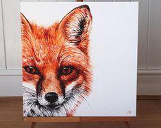 Fox painting - Limited Edition Fox Canvas Print - Fox Art - Fox picture