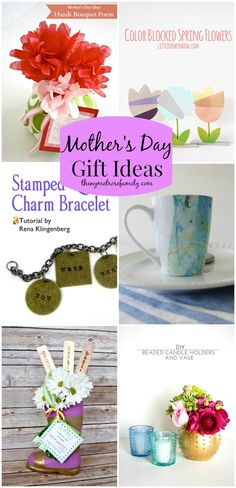 Mother's Day Gift Ideas via The NY Melrose Family Mothers Day Crafts, Mother Day Gifts, Gifts For Mom, Fathers Day, Crafts For Kids, Diy Crafts, Holiday Crafts, Holiday Fun, Christmas Gifts
