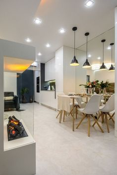 Planned kitchen small apartment: see tips for decorating and photos - Home Fashion Trend Built In Furniture, Dark Furniture, Small Kitchen Plans, Apartment Needs, Small Apartment Kitchen, Small Apartments, Kitchen Design, House Styles, Home Decor