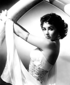 "Elizabeth Taylor by Virgil Apger, publicity portrait for ""Elephant Walk"", 1954."
