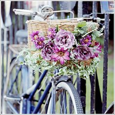 Bike and Flowers by rushfan2112 (Late Developer), via Flickr