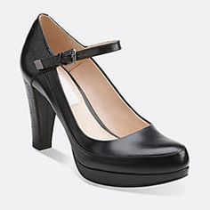 Kendra Dime Black Combi Leather - Clarks Womens Shoes - Womens Heels and Flats - Clarks - Clarks® Shoes