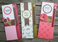 Note pad and pencil set