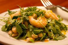 Shrimp and White Bean Salad with Harissa