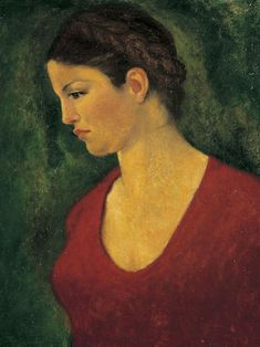 portret van dina - maillol 1940    i hate green and red together but somehow find it very interesting here