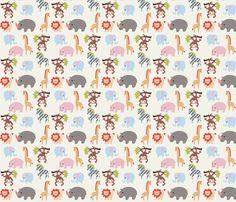 animalla fabric by mytinystar on Spoonflower - custom fabric