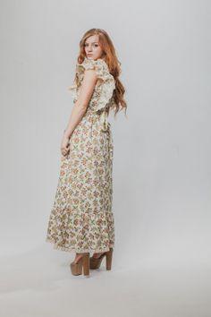 e936e450bb5d Vintage dress   Bohemian dress   Hippie style vintage dress   Vintage boho  hippie style dress   70s dress