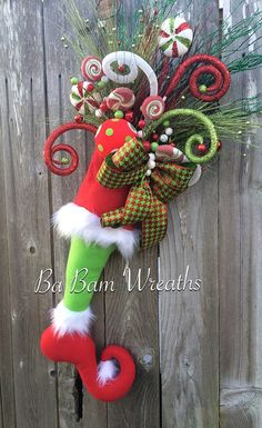 Christmas Swag Christmas Door Hanging Fun by BaBamWreaths on Etsy