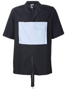 Hood By Air 'MOMA zip executor' s/s shirt Jaden Smith Fashion, Safari Shirt, Hood By Air, Mens Designer Shirts, Men Street, S Shirt, Moma, Shirt Designs, Menswear