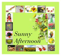 Sunny Afternoon: Handmade & Vintage Gift Ideas by paulinemcewen on Polyvore featuring interior, interiors, interior design, home, home decor, interior decorating, Giallo, rustic, vintage and country