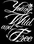 New Custom Screen Printed T-shirt Young Wild Free Music Small -
