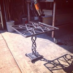 BRAD ALLEN | welding co: Hand forged sculptural iron end table