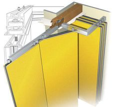 Mur Mobile Acoustique Plus Plus Movable Partition, Movable Walls, Murs Mobiles, Door Design, House Design, Sliding Wall, Sliding Door Systems, Room Divider Doors, Regal Design