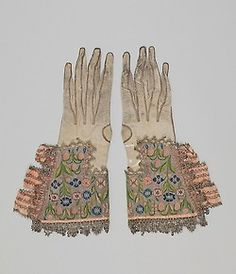 Pair of Gloves The Metropolitan Museum of Art, 28.220.1, .2 United Kingdom, early 17. century Leather, silk and metal thread