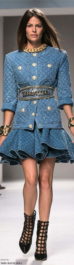 #Paris FW Balmain Spring 2014 RTW.  Must have this with a slight change in jewelry and belt.