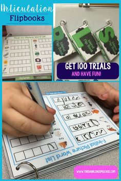 articulation practice can be fun, interactive and still get 100 trials with this articulation flipbooks.