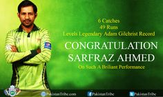CONGRATULATION SARFRAZ AHMED On Such A Briliant Performance #PakVsSA