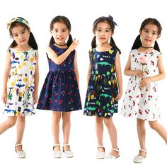 31703cd07468 1-5Y Summer Girl Dress Sleeveless Backless Berry Kid Princess Dress For Girl  Elegent Cotton party Dress Children Clothes 2018