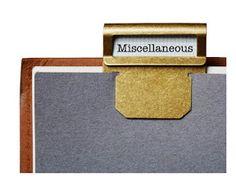 Brass folder clips