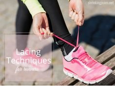 Lacing Techniques for Runners #shrinkingjeans