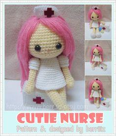 Crochet-Cutie Nurse Pattern $5.50