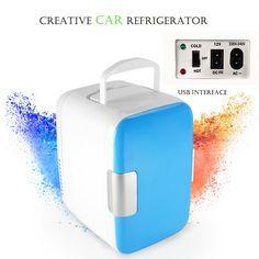 61.75$  Buy here - http://aliw8d.worldwells.pw/go.php?t=32740749607 - freeshipping top quality mini Car refrigerator Heat and cool refrigerator Mini fridge Dual use Portable refrigerator usb DC 12V
