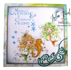 Pumpkin Belly Cards Polka Doodles Meribelle Mermaid Copics