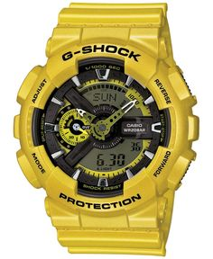 706fd92c59b G-Shock Men s Analog-Digital Yellow Bracelet Watch 55x51mm GA110NM-9A Sport  Watches