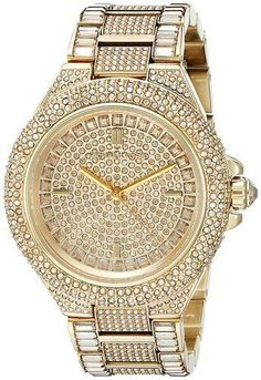 2533e7ba20417 Brand New Michael Kors Camille Gold Tone Pave Glitz Ladies Watch