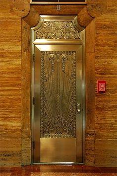 Art Deco door, Houston, Texas